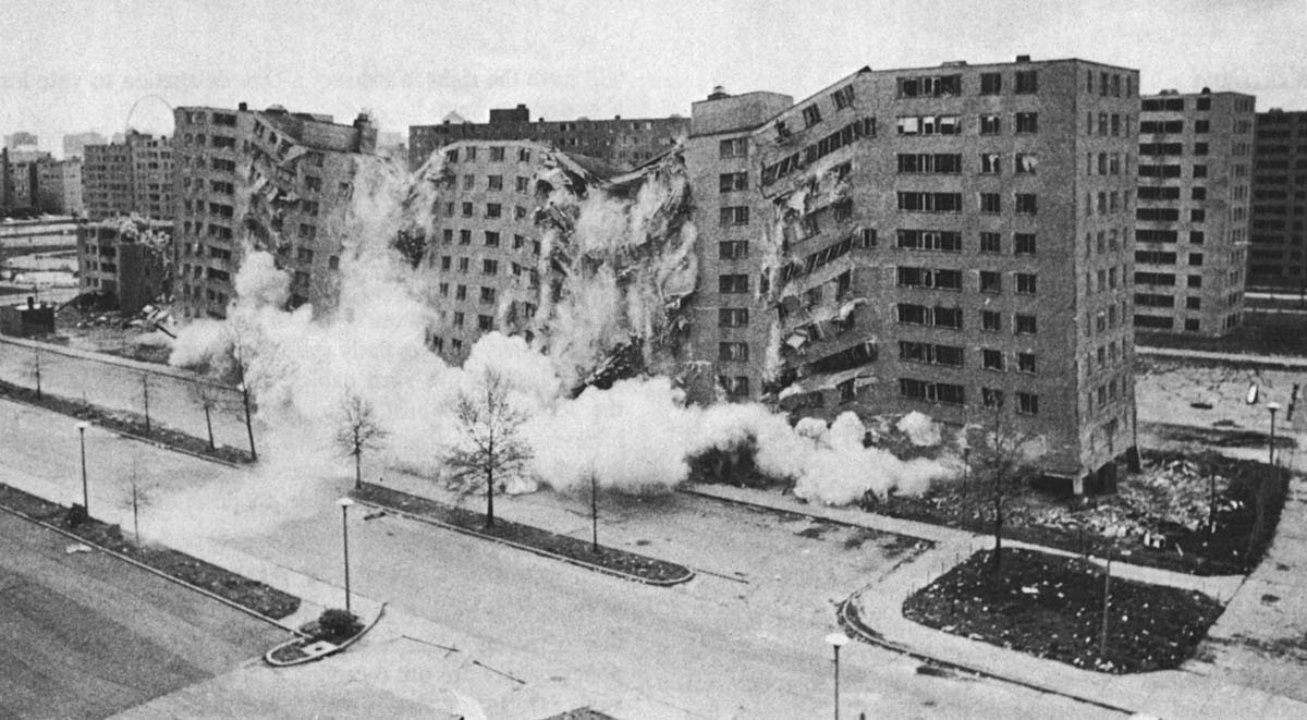 destruction de l'ensemble de Pruitt-Igoe