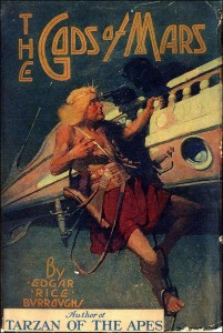 Couverture de la première édition de The Gods of Mars, de Edgar Rice Burroughs, illustration par Frank E. Schoonover, 1918