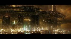 Shangaï en 2027, dans le jeux cyberpunk Deus-Ex : Human Revolution (Square Enix, 2011).