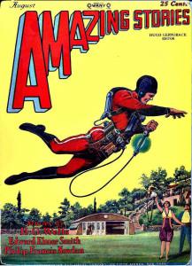 Première apparition de Buck Rogers, Amazing Stories, Août 1928