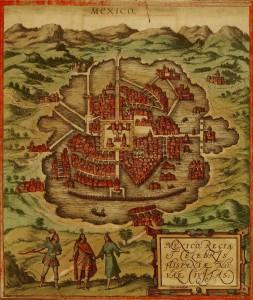 Tenochtitlan à l'arrivée des Espagnols - 1572