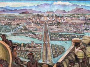 Tenochtitlan, mural de Diego Rivera