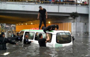 Inondation à Mexico