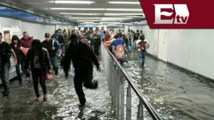 Inondation dans le métro de Mexico